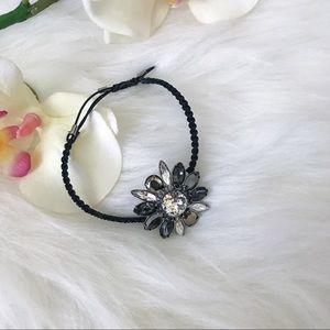 Swarovski Jewelry - Swarovski flower black crystal bracelet- NWT